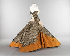 """""""Four Leaf Clover""""  Charles James (American, born Great Britain, 1906–1978)  Date: 1953 Culture: American Medium: silk Dimensions: Length at CB: 52 in. (132.1 cm) Credit Line: Brooklyn Museum Costume Collection at The Metropolitan Museum of Art, Gift of the Brooklyn Museum, 2009; Gift of Josephine Abercrombie, 1953"""