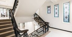 Casper Schwarz Architects, JonesDay Amsterdam, interior design, classic stairs, classic windows