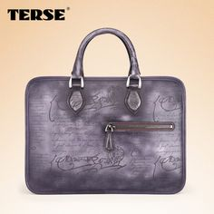 5% off !!! Find More Briefcases Information about TERSE_Modern style Genuine Leather shoulder bag Calligraphy briefcase Italian laptop bag top quality vintage handbag custom bag ,High Quality bag yellow,China handbag travel bag Suppliers, Cheap handbag - clutch bag from TERSE Official Store on Aliexpress.com
