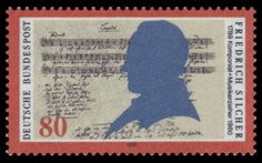 German stamp 'Friedrich Silcher Komponist' of the year 1989 (Deutsche Bundespost). German Stamps, Postage Stamps, Famous People, Dbz, Envelopes, Postcards, Music, Islands, Third