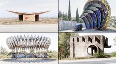 """Small shelters for people waiting for public transport in the former USSR have become a constant source of inspiration for Christopher Herwig. The photographer has published a book to preserve these flamboyant, """"mind-blowing pieces of art."""""""