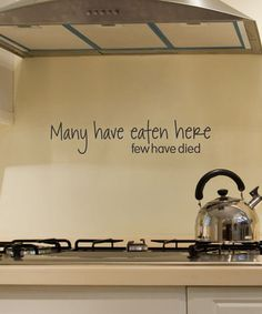 'Many Have Eaten Here' Wall Quotes™ Decal