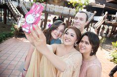 Bride, Groom, sister and niece selfie time