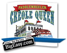 Creole Queen | New Orleans Paddlewheeler Mississippi River Cruises $77/person for Dinner/Jazz Cruise