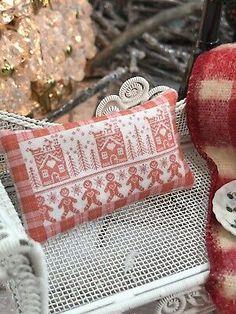 DOLLHOUSE MINIATURE ~ MERRY CHRISTMAS RED TRUCK PILLOW