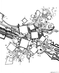 Number One Box - Abstract Pen Illustration by JeffJag on DeviantArt