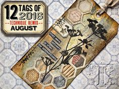 It's time for the next tag in the #12tagsof2016 from Tim Holtz! Visit Tim's blog to check out his tag for August: timholtz.com/blog #TimHoltz
