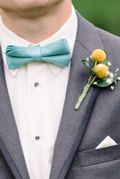 Love this bowtie and bout combo | DIY New Jersey Wedding at the Raritan Inn from Michelle Lange Photography  Read more - http://www.stylemepretty.com/new-york-weddings/2013/09/13/diy-new-jersey-wedding-at-the-raritan-inn-from-michelle-lange-photography/