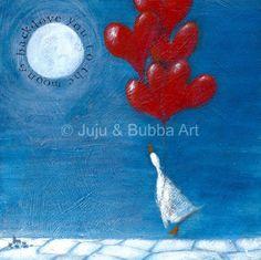 Love You to the Moon and Back' print  -  Jules Watson @ Juju & Bubba Art & Illustration