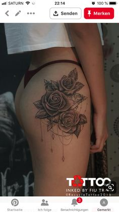 (notitle) (notitle),Tattoo Related posts:Blumen Tattoo Bein Sonnenblume 68 Ideen - Tattoo Geometric Mountain Tattoo Designs For Men - Geometry Ink Ideas - Tattoo ideas- Tattoo Meaningful and Beautiful Sun and Moon Tattoos. Hip Thigh Tattoos, Floral Thigh Tattoos, Hip Tattoos Women, Trendy Tattoos, Foot Tattoos, Cute Tattoos, Beautiful Tattoos, Body Art Tattoos, Sleeve Tattoos
