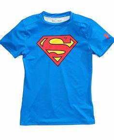 Under Armour Little Boys' Superman Alter Ego Baselayer Tee - Kids Toddler Boys (2T-5T) - Macy's