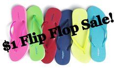 Old Navy's Annual $1 Flip-Flop Sale - http://www.thecafecoupon.com/2017/06/old-navys-annual-1-flip-flop-sale.html