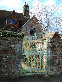 I love stone walls and iron gates.