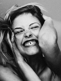 """The French know the deal — their phrase for gap teeth is """"dents du bonheur,"""" literally translating to """"lucky teeth."""" I LOVE how cute a gap between teeth looks! Such a nice smile! Just Smile, Happy Smile, Smile Face, Your Smile, I'm Happy, Happy Faces, Gap Teeth, Ashley Smith, Portrait Photography Tips"""