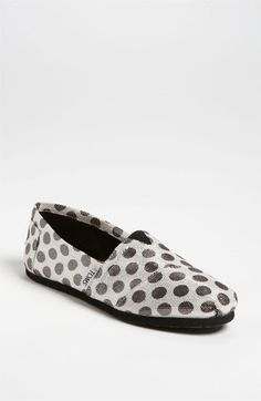 TOMS 'Classic - Metallic Dot' Slip-On   One for One...love it!    Nordstrom