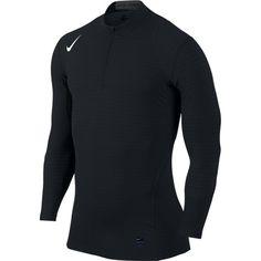 039f9025e623fc Nike Mens L Pro Warm 1 4 Zip Fitted DriFIT Training Shirt Black Large 725033