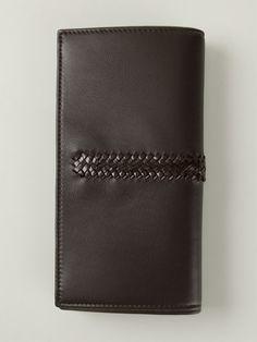 Ferragamo Woven Panel Long Wallet in Brown for Men | Lyst