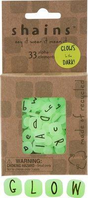 33 Glow in the Dark Alphabet Elements from Shains