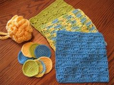 Summer Splash Spa Gift Set by Crochetandmore on Etsy