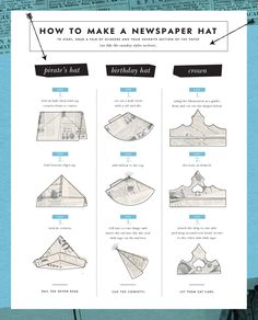 How to make a paper hat.
