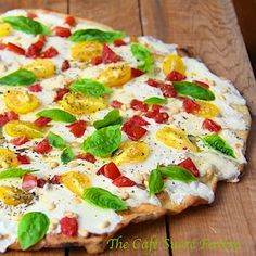 Grilled Pizza Margherita w/ Heirloom Tomatoes and Toasted Pine Nuts ...