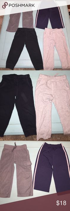 Carter's sweatpants These pants are in perfect condition! One pair is black, one is navy, and two are gray. All are size 3T. My items come from a smoke free/ pet free home, and I'm open to offers and bundles! Carter's Bottoms Sweatpants & Joggers