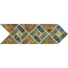 Daltile Heathland Sunset Blend 4 in. x 12 in. Glazed Ceramic Decorative Accent Floor and Wall Tile-HL08412DECO1P2 at The Home Depot