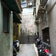 Funny little laneway in Macau.