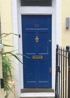 royal blue front door paint colors that look like Sherwin-Williams Hyper Blue SW6965