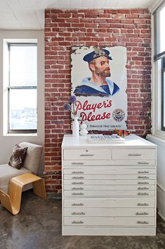 JB has a flat file like this. I want one of my own. Also that brick. Awesome.