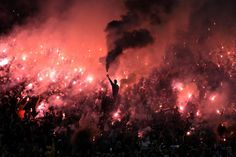 Supporters of Brazilian Corinthians cheer for their team during the 2016 Copa Libertadores football match against Uruguay's Nacional held at Arena Corinthians stadium, in Sao Paulo, Brazil on May (Nelson Almeida/AFP/Getty) Apoel Fc, Corinthians Time, Ultras Football, Just A Game, Football Match, Photojournalism, Cheer, Concert, Instagram Posts