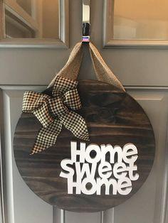Home Sweet Home Door Hanger, Home Door Sign, Hello Door Hanger, Home Sweet Home, Anniversary Gift, Housewarming Gift, All Year Door Hanger