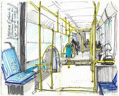 Urban and architectural sketches by an architect Alena Kudriashova
