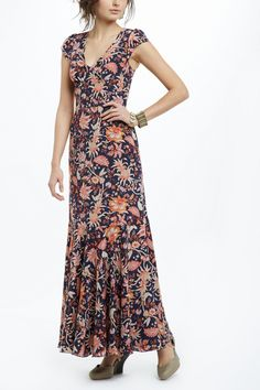 Bruna Dress - Anthropologie.com: I've got a busy floral rayon print in the stash...