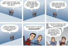 E-Commerce designer nightmares via NetMag's NetStrip by Brad Colbow