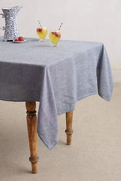 Chambray Tablecloth - anthropologie.com