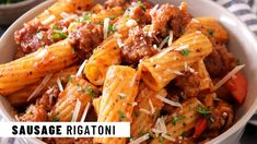 Sausage Rigatoni | Easy Recipe | Jehan Can Cook Caribbean Food, Caribbean Recipes, Sausage Rigatoni Recipes, Pasta Dishes, Easy Meals, Low Carb, Cooking, Ethnic Recipes, Low Carb Recipes