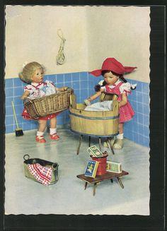 Käthe Kruse   Dolls / Pupae   old Postcards