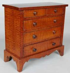 57: FEDERAL MINIATURE TIGER  MAPLE CHEST
