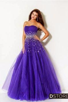 vestido para debutante em tule roxo