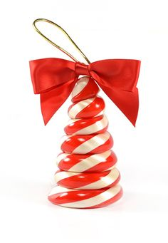 Peppermint Cone Tree Ornament