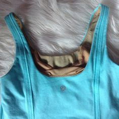 Lululemon Tiffany blue top Lightly used lululemon athletica Tops Tank Tops