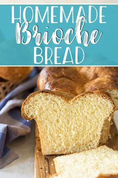 Once you've tried this easy Homemade Brioche Bread recipe, you'll never want another store-bought slice of bread! This deliciously buttery and rich French yeast bread can be made into loaves or rolls and makes the best bread pudding and French toast in the world! #homemade #homemadebread #brioche #bread #breadrecipes #french #yummy #carbs #easy #easyrecipe #baking #homebaker