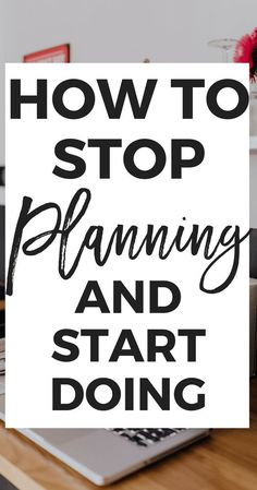 to STOP Over-Planning (And Start Doing!) How to STOP Overplanning (And Start Doing) - Do you tend to overplan EVERYTHING? Don't worry, I'm the same way! Here are a few tips that will help you to finally STOP overplanning and start doing instead! Self Development, Personal Development, Life Organization, Organizing, Business Organization, Productive Things To Do, Time Management Skills, How To Stop Procrastinating, How To Stay Motivated