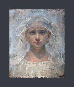 "odd nerdrum paintings | The Bride Oil on canvas 42 x 33 cm ""price 32500 euro""info@artnet.se"