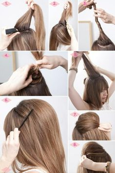 How to: Easy Bouffant Hairdo