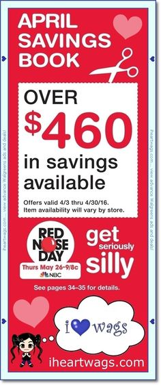 walgreens april 2016 coupon book!  view it here:  http://www.iheartwags.com/2016/03/april-2016-coupon-book-0403-0430.html  #walgreens #wags #coupons #couponing #couponcommunity