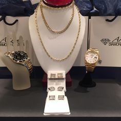 Chains and Rolex watches, oh my! These make the perfect gift for the holidays! Get your shopping started early this year!