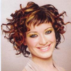 Lots of celebrities these days sport short curly hair styles, but some of them really stand out. When we think of curly short hair, the image of AnnaLynne Medium Curly, Medium Hair Cuts, Short Curly Hair, Short Hair Cuts, Medium Hair Styles, Curly Hair Styles, Short Styles, Short Bangs, Short Wavy