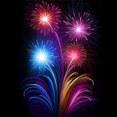 Beautiful New Year Fireworks Background Fireworks Background, Fireworks Art, Night Sky Stars, Night Skies, Background Templates, Background Images, Happy New Year Fireworks, Painting Illustrations, Decorative Paintings
